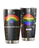 Personalized Two Dads Are Better Than One LGBT Rainbow Stainless Steel Tumbler Perfect Gifts For LGBT Tumbler Cups For Coffee/Tea, Great Customized Gifts For Birthday Christmas Thanksgiving