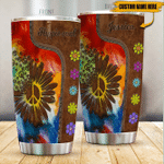 Personalized Hippie Soul Stainless Steel Tumbler Perfect Gifts For Hippie Lover Tumbler Cups For Coffee/Tea, Great Customized Gifts For Birthday Christmas Thanksgiving