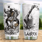 Personalized Viking Axe Stainless Steel Tumbler Perfect Gifts For Viking Lover Tumbler Cups For Coffee/Tea, Great Customized Gifts For Birthday Christmas Thanksgiving