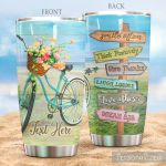 Personalized Cycling Smile Often Think Positively Give Thanks Laugh Loudly Love Others Dream Big Stainless Steel Tumbler, Tumbler Cups For Coffee/Tea, Great Customized Gifts For Birthday Christmas Thanksgiving