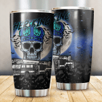 Her King Skull Firefighter Stainless Steel Tumbler Perfect Gifts For Firefighter Lover Tumbler Cups For Coffee/Tea, Great Customized Gifts For Birthday Christmas Thanksgiving