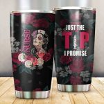 Nurse Just The Tip I Promised Glitter Stainless Steel Tumbler Perfect Gifts For Nurse Lover Tumbler Cups For Coffee/Tea, Great Customized Gifts For Birthday Christmas Thanksgiving