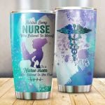 Nurse Mom Who Believed In Her First Glitter Stainless Steel Tumbler Perfect Gifts For Teacher Lover Tumbler Cups For Coffee/Tea, Great Customized Gifts For Birthday Christmas Thanksgiving Mother's Day