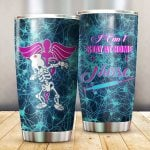 Skeleton Medical Symbol I Can't Stay At Home I'm A Nurse Glitter Stainless Steel Tumbler Perfect Gifts For Nurse Lover Tumbler Cups For Coffee/Tea, Great Customized Gifts For Birthday Christmas Thanksgiving