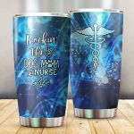 Medical Symbol Rockin' The Dog And Mom Nurse Life Glitter Stainless Steel Tumbler Perfect Gifts For Nurse Tumbler Cups For Coffee/Tea, Great Customized Gifts For Birthday Christmas Thanksgiving