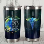 Nurse She Believed She Could Change The World Stainless Steel Tumbler Perfect Gifts For Nurse Tumbler Cups For Coffee/Tea, Great Customized Gifts For Birthday Christmas Thanksgiving