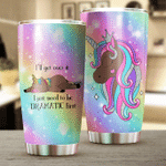 Colorful Black Unicorn I'll Get Over It Stainless Steel Tumbler Perfect Gifts For Unicorn Lover Tumbler Cups For Coffee/Tea, Great Customized Gifts For Birthday Christmas Thanksgiving