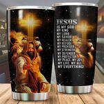 Lion Jesus Christ My Healer My Refuge Stainless Steel Tumbler Perfect Gifts For Teacher Lover Tumbler Cups For Coffee/Tea, Great Customized Gifts For Birthday Christmas Thanksgiving