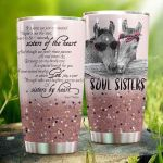 Soul Sister Horse And Though We Don't Share Parents Stainless Steel Tumbler Perfect Gifts For Horse Lover Tumbler Cups For Coffee/Tea, Great Customized Gifts For Birthday Christmas Thanksgiving