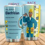 Electrician Safely Using Power Tools Stainless Steel Tumbler Perfect Gifts For Electrician Lover Tumbler Cups For Coffee/Tea, Great Customized Gifts For Birthday Christmas Thanksgiving