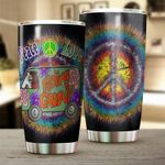 Hippie Van Peace Love Feeling Groovy Stainless Steel Tumbler Perfect Gifts For Hippie Tumbler Cups For Coffee/Tea, Great Customized Gifts For Birthday Christmas Thanksgiving