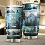 The Mountains Are Calling Stainless Steel Tumbler Perfect Gifts For Mountain Lover Tumbler Cups For Coffee/Tea, Great Customized Gifts For Birthday Christmas Thanksgiving