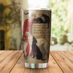 A Girl Who Loves Dogs And Cats Stainless Steel Tumbler Perfect Gifts For Dog And Cat Lover Tumbler Cups For Coffee/Tea, Great Customized Gifts For Birthday Christmas Thanksgiving