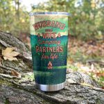 Husband And Wife Camping Partners For Life Stainless Steel Tumbler Perfect Gifts For Camping Lover Tumbler Cups For Coffee/Tea, Great Customized Gifts For Birthday Christmas Thanksgiving Wedding Valentine's Day