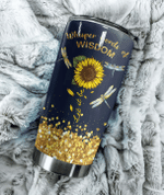 Dragonfly Whisper Word Of Wisdom Let It Be Glitter Stainless Steel Tumbler Perfect Gifts For Dragonfly Lover Tumbler Cups For Coffee/Tea, Great Customized Gifts For Birthday Christmas Thanksgiving