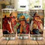 Cowgirl And Horse The Soul Of A Gypsy The Heart Of A Hippie Stainless Steel Tumbler Perfect Gifts For Cowgirl Tumbler Cups For Coffee/Tea, Great Customized Gifts For Birthday Christmas Thanksgiving