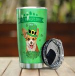 Corgi Dog Saint Patrick's Day Stainless Steel Tumbler Perfect Gifts For Dog Lover Tumbler Cups For Coffee/Tea, Great Customized Gifts For Birthday Christmas Thanksgiving