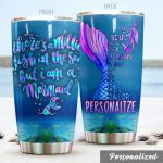 Personalized Mermaid Tail There's A Million Fish In The Sea Stainless Steel Tumbler Perfect Gifts For Mermaid Lover Tumbler Cups For Coffee/Tea, Great Customized Gifts For Birthday Christmas Thanksgiving