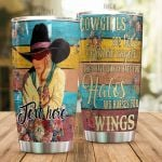 Personalized Cowgirl Are God's Wildest Angels Stainless Steel Tumbler Tumbler Cups For Coffee/Tea Great Customized Gifts For Birthday Christmas Thanksgiving Awesome Gifts For Cowboy