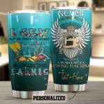 Personalized Sewing Machine A Woman With A Sewing Machine Stainless Steel Tumbler Perfect Gifts For Sewing Lover Tumbler Cups For Coffee/Tea, Great Customized Gifts For Birthday Christmas Thanksgiving