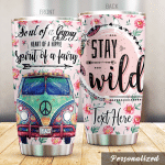 Personalized Hippie Spirit Of A Fairy Stay Wild Stainless Steel Tumbler Perfect Gifts For Hippie Tumbler Cups For Coffee/Tea, Great Customized Gifts For Birthday Christmas Thanksgiving