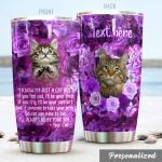 Personalized Tabby Cat We Can Use Mine To Live Stainless Steel Tumbler Perfect Gifts For Cat Lover Tumbler Cups For Coffee/Tea, Great Customized Gifts For Birthday Christmas Thanksgiving