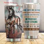 Personalized Some Days Are Better Horse Stainless Steel Tumbler Tumbler Cups For Coffee/Tea Perfect Customized Gifts For Birthday Christmas Thanksgiving Awesome Gifts For Horse Lovers