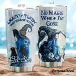 Personalized Witch Cat Lady No Image While I'm Gone Stainless Steel Tumbler Perfect Gifts For Witch And Cat Lover Tumbler Cups For Coffee/Tea, Great Customized Gifts For Birthday Christmas Thanksgiving