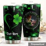 Personalized Irish By Blood Stainless Steel Tumbler Perfect Gifts For Irish Culture Lover Tumbler Cups For Coffee/Tea, Great Customized Gifts For Birthday Christmas Thanksgiving