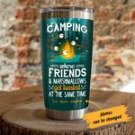 Personalized Camping Where Friends And Marshmallows Get Toasted At The Same Time Stainless Steel Tumbler, Tumbler Cups For Coffee/Tea, Great Customized Gifts For Birthday Christmas Thanksgiving