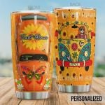 Personalized Hippie Car On A Dark Desert Highway Cool Wind In My Hair Stainless Steel Tumbler, Tumbler Cups For Coffee/Tea, Great Customized Gifts For Birthday Christmas Thanksgiving