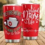 Personalized Nurse Retirement This Nurse Is Done Stainless Steel Tumbler Perfect Gifts For Nurse Tumbler Cups For Coffee/Tea, Great Customized Gifts For Birthday Christmas Thanksgiving
