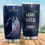 Personalized Horse The Path To My Heart Is Paved With Hoof Prints Stainless Steel Tumbler Perfect Gifts For Horse Lover Tumbler Cups For Coffee/Tea, Great Customized Gifts For Birthday Christmas Thanksgiving