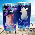 Personalized Cat Your Wings Were Ready Stainless Steel Tumbler Perfect Gifts For Cat Lover Tumbler Cups For Coffee/Tea, Great Customized Gifts For Birthday Christmas Thanksgiving