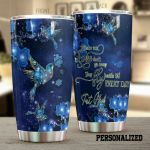 Personalized Blue Glitter Cardinal They Fly Beside Us Everyday Stainless Steel Tumbler Perfect Gifts For Cardinal Lover Tumbler Cups For Coffee/Tea, Great Customized Gifts For Birthday Christmas Thanksgiving