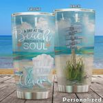 Personalized A Day At The Beach Restores The Soul Stainless Steel Tumbler, Tumbler Cups For Coffee/Tea, Great Customized Gifts For Birthday Christmas Thanksgiving