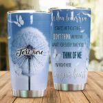 Personalized Butterfly And Dandelion I Am Right Here Stainless Steel Tumbler Perfect Gifts For Butterfly Lover Tumbler Cups For Coffee/Tea, Great Customized Gifts For Birthday Christmas Thanksgiving