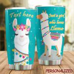 Personalized Llama Girl Who Loves Llama Stainless Steel Tumbler Perfect Gifts For Llama Lover Tumbler Cups For Coffee/Tea, Great Customized Gifts For Birthday Christmas Thanksgiving