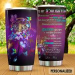 Personalized Dreamcatcher Butterfly To My Daughter From Mom I Am Always Right There In Your Heart Stainless Steel Tumbler Perfect Gifts For Butterfly Lover Tumbler Cups For Coffee/Tea, Great Customized Gifts For Birthday Christmas Thanksgiving