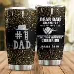 Personalized Family Dear Dad From Kids Thanks For Not Pulling Out Stainless Steel Tumbler Perfect Gifts For Family Lover Tumbler Cups For Coffee/Tea, Great Customized Gifts For Birthday Christmas Thanksgiving Father's Day