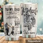 Personalized Biker To My Dad From Son There Is No Way I Can Pay You Back Stainless Steel Tumbler Perfect Gifts For Biker Tumbler Cups For Coffee/Tea, Great Customized Gifts For Birthday Christmas Thanksgiving Father's Day