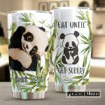 Personalized Cute Panda I Eat Until I Get Sleep Stainless Steel Tumbler Perfect Gifts For Panda Lover Tumbler Cups For Coffee/Tea, Great Customized Gifts For Birthday Christmas Thanksgiving