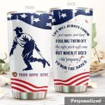Personalized Baseball Player Just Keep Fouling Them Off Stainless Steel Tumbler Perfect Gifts For Baseball Lover Tumbler Cups For Coffee/Tea, Great Customized Gifts For Birthday Christmas Thanksgiving