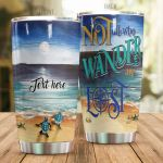 Personalized Sea Turtle Not All Who Wander Are Lost Stainless Steel Tumbler Perfect Gifts For Sea Turtle Lover Tumbler Cups For Coffee/Tea, Great Customized Gifts For Birthday Christmas Thanksgiving