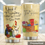 Personalized Sewing Chicken I Googled My Symptoms Stainless Steel Tumbler Perfect Gifts For Sewing Lover Tumbler Cups For Coffee/Tea, Great Customized Gifts For Birthday Christmas Thanksgiving