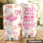Personalized Flamingo Just Be Your Own Unique Stainless Steel Tumbler Perfect Gifts For Flamingo Lover Tumbler Cups For Coffee/Tea, Great Customized Gifts For Birthday Christmas Thanksgiving