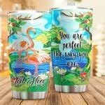 Personalized Flamingo Perfect The Way You Are Stainless Steel Tumbler Perfect Gifts For Flamingo Lover Tumbler Cups For Coffee/Tea, Great Customized Gifts For Birthday Christmas Thanksgiving