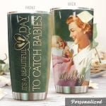 Personalized Midwife It's A Beautiful Day Stainless Steel Tumbler Perfect Gifts For Midwife Lover Tumbler Cups For Coffee/Tea, Great Customized Gifts For Birthday Christmas Thanksgiving