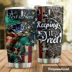 Personalized Fishing American Flag Keeping It Reel Stainless Steel Tumbler Perfect Gifts For Fishing Lover Tumbler Cups For Coffee/Tea, Great Customized Gifts For Birthday Christmas Thanksgiving