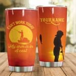 Personalized Fishing Can't Work Today Stainless Steel Tumbler Perfect Gifts For Fishing Lover Tumbler Cups For Coffee/Tea, Great Customized Gifts For Birthday Christmas Thanksgiving